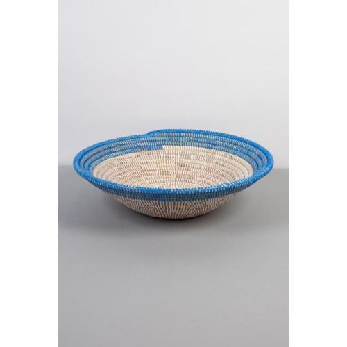 Coloured Edge Bowl Blue: Medium Image