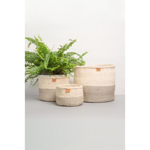 Sisal Storage Basket: Grey Medium Image