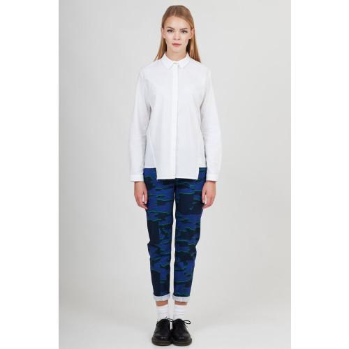 Ana Tichy White Angular- cut Shirt Image