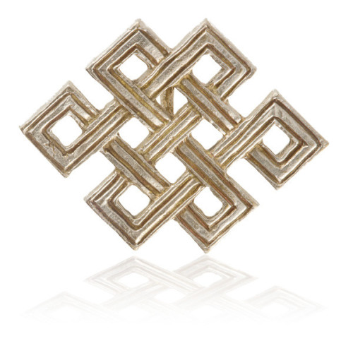 Silver Coated Brass Mystic Knot Pendant Image