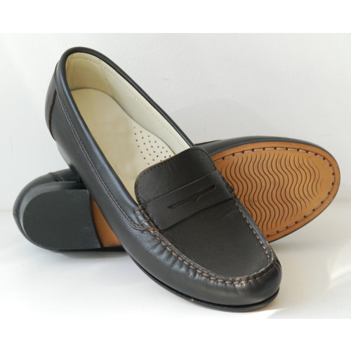Brown Leather Loafer Image