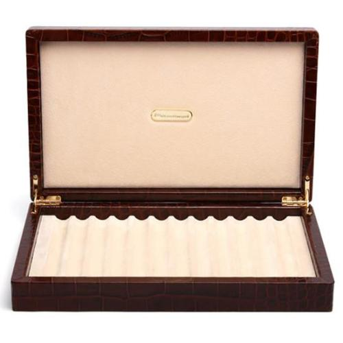 BROWN LEATHER BOX FOR 12 PENS BY RENZO ROMAGNOLI Image