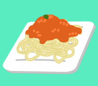 Pasta on a sheet of paper