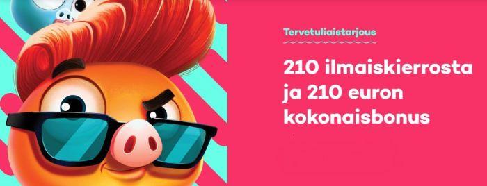21.com ilmaiskierrokset ja bonus tervetuliaistarjouksella