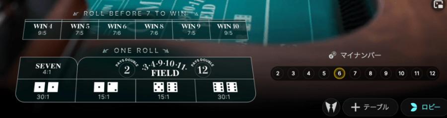 エボリューションゲーミング社のクラップスライブ、イージーモード