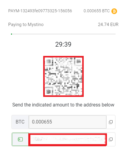 ミスティーノのビットコイン入金方法