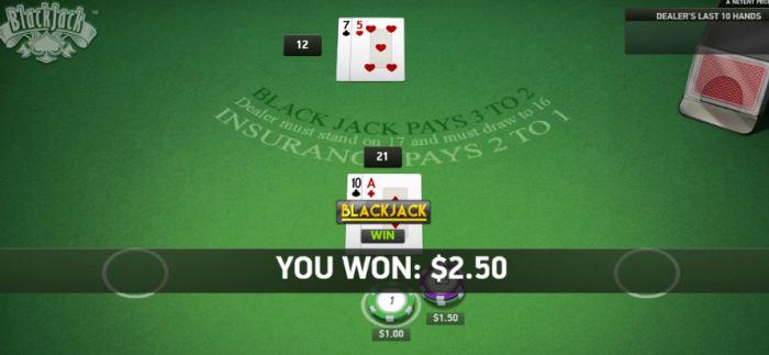 オンラインカジノの人気ゲーム「ブラックジャック」