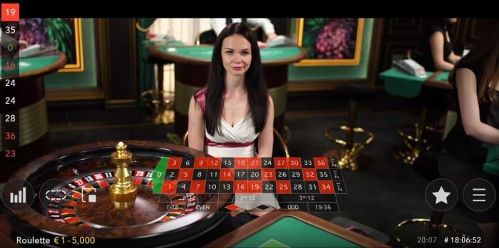 「没入型」のライブカジノプレイ画面