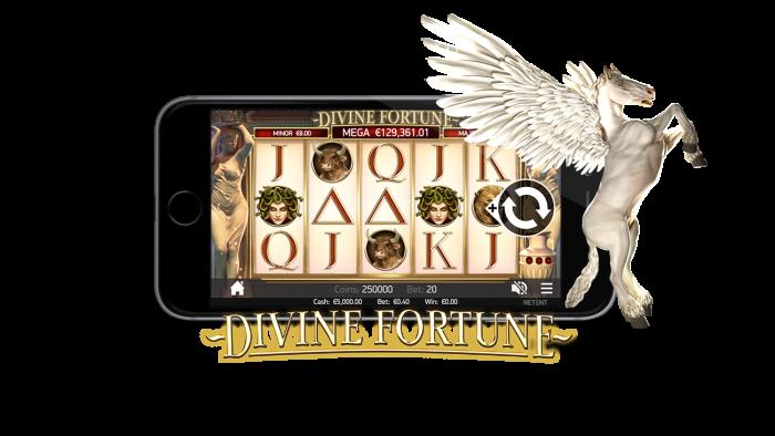 カジ旅カジノの人気ジャックポットゲーム「ディバインフォーチュン」