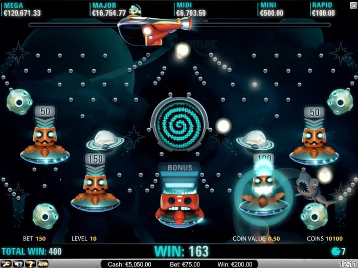 ギャンボラカジノのジャックポットゲーム「コスミックフォーチュン」