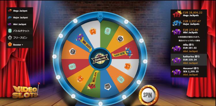 ビデオスロッツのザ・ウィール・オブ・ジャックポット(The Wheel of Jackpots)
