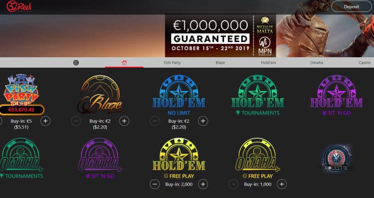 32レッドカジノのポーカー