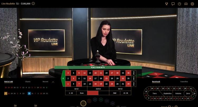 シンプルカジノのVIPテーブル