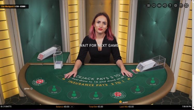 ジャストスピンのライブカジノ