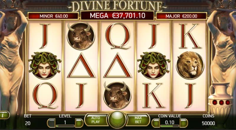 ラッキーニッキーの大人気ジャックポットゲーム「ディバインフォーチュン」