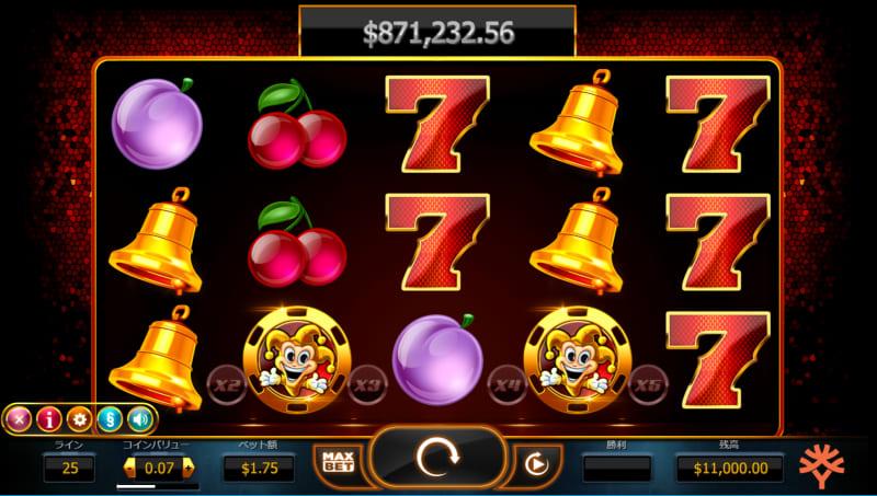 ベラジョンのジャックポットゲーム「Joker Millions」