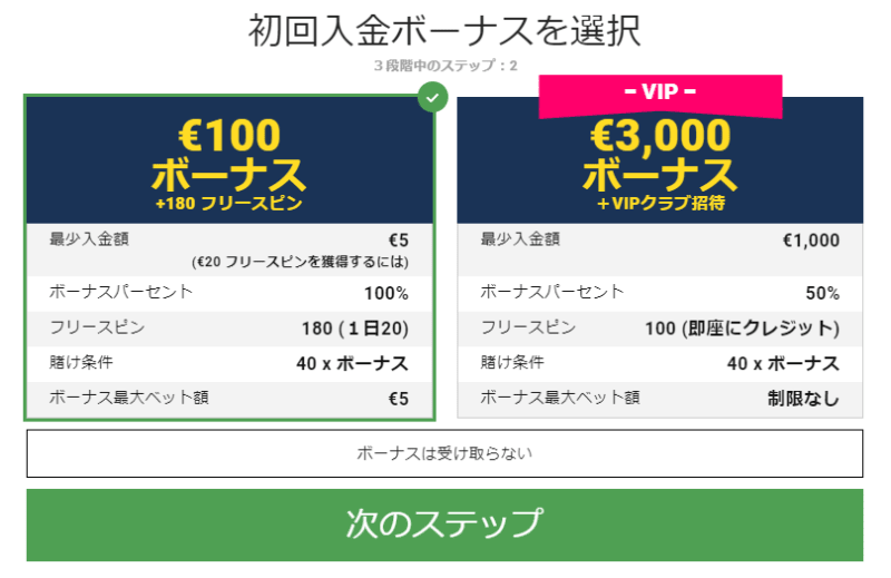 ビットスターズカジノの登録方法