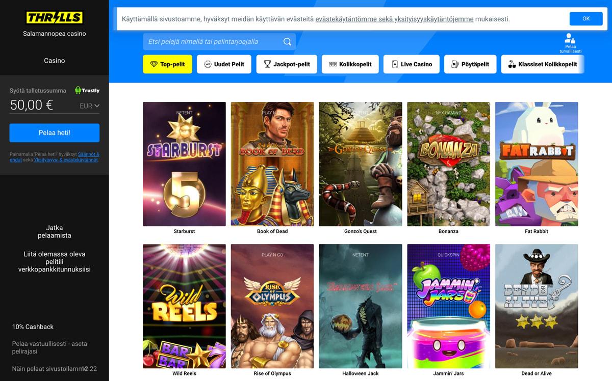 thrills-casinon-esittely-ja-pelit