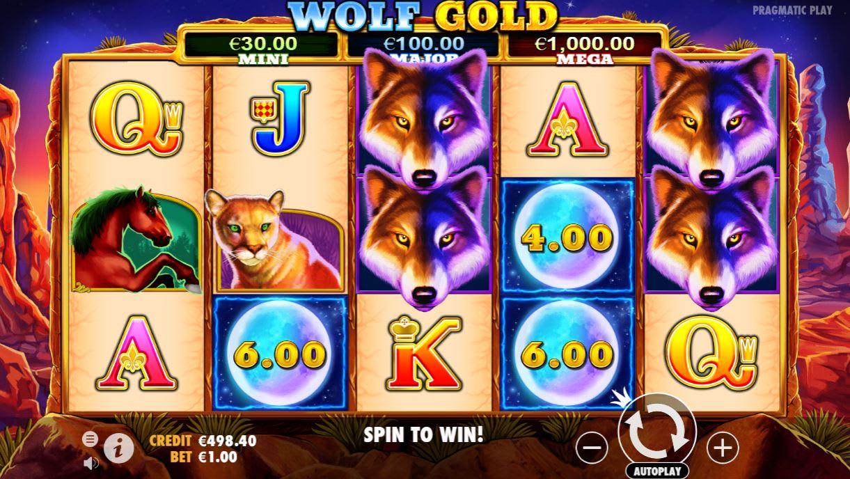 カシュミオのジャックポットゲーム「ウルフゴールド(Wolf Gold)」