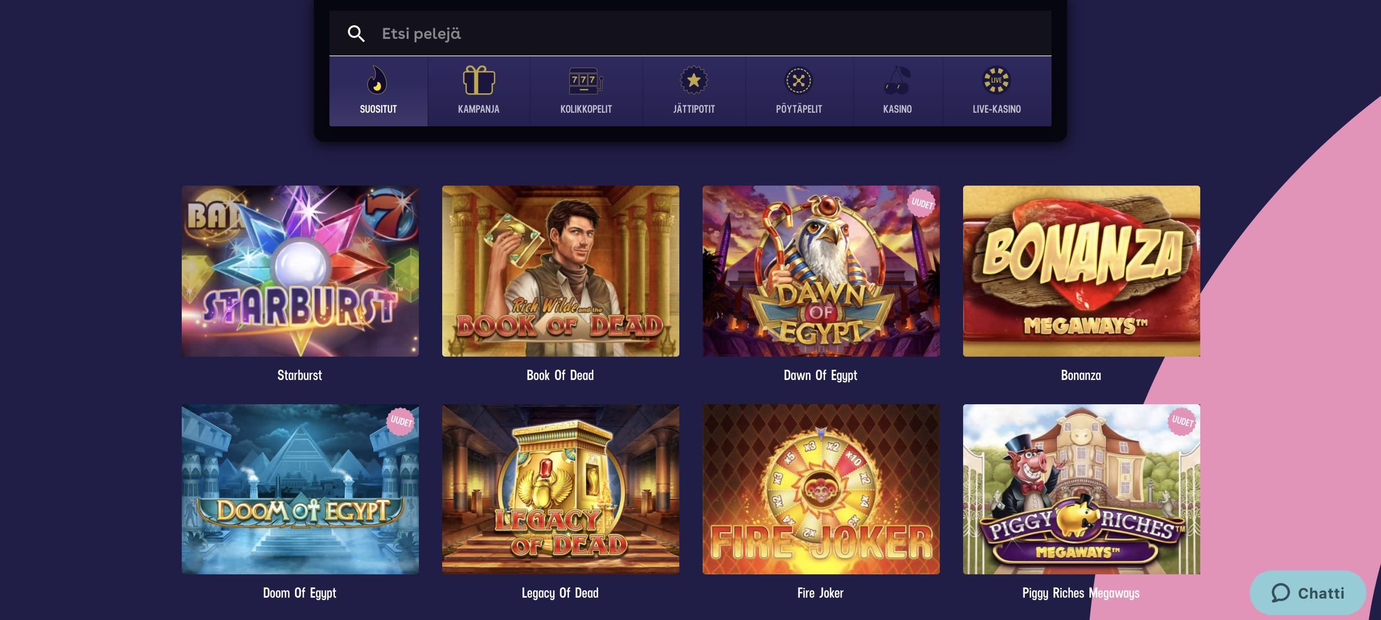 Gambola Casino pelit