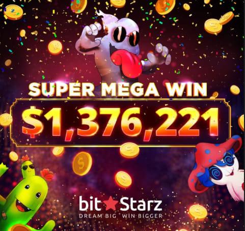 ビットスターズカジノの「スロットモンゴー」で高額勝利