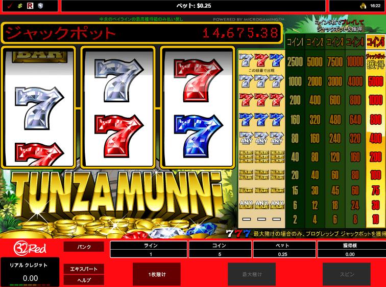 タンザムニ(Tunzamunni)のプレイ画面