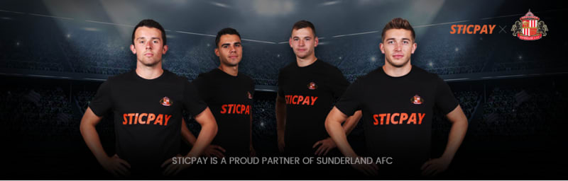 SUNDERLAND AFCの公式スポンサーであるスティックペイ
