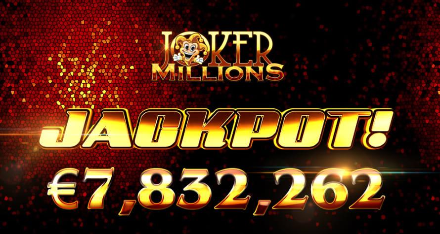 ジョーカーミリオンズ(Joker millions)でジャックポット当選