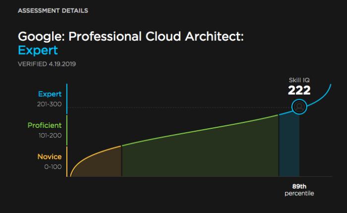 Google - Professional Cloud Architect: Expert Level. Verifed via Pluralsight.