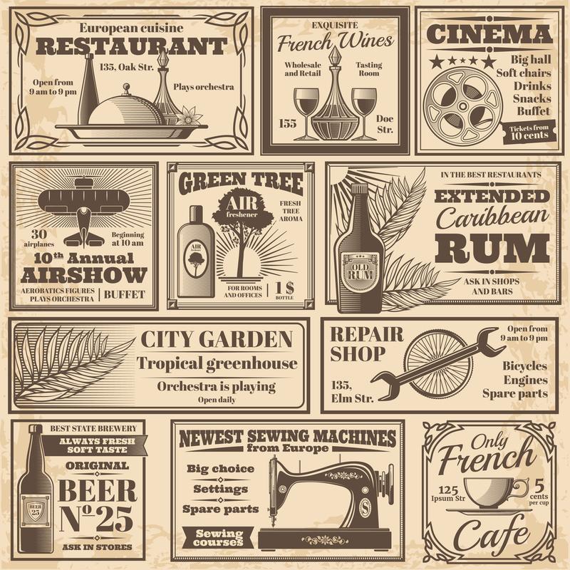 restaurant advertisements
