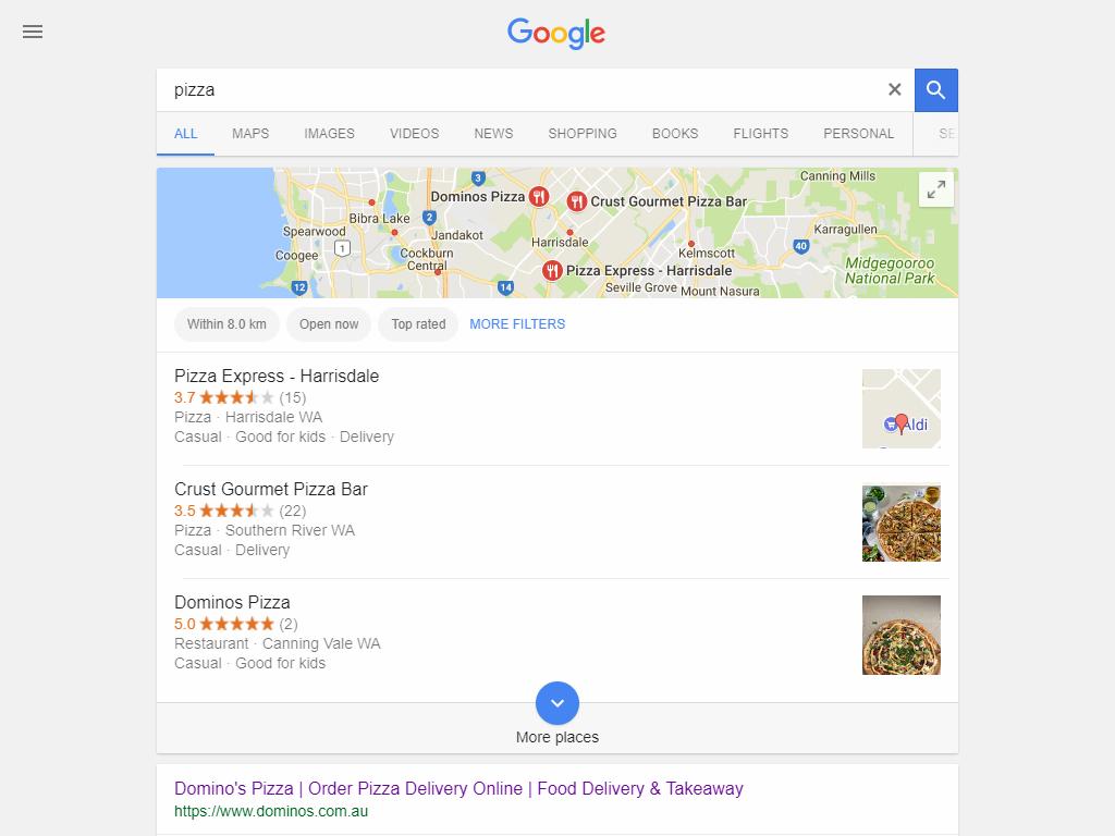 GMB for restaurant listing