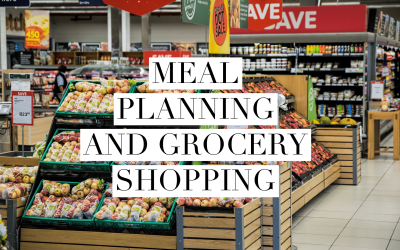 Weight loss surgery meal planning and grocery shopping.