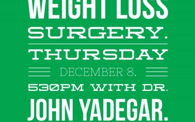 It's time for you to learn more about weight loss surgery.