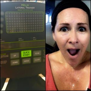 Lateral trainer at the gym