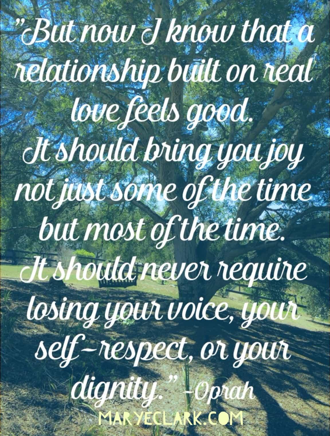 Oprah relationships dignity