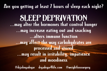 weight loss and sleep deprivation