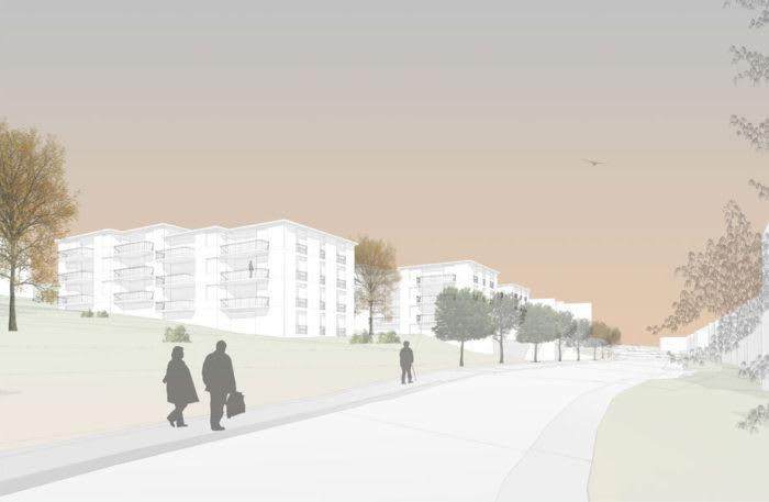 Studienauftrag Neubau Wohnsiedlung Büelhalde