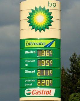 LED Preisanzeigen und Tankstellenbeleuchtung