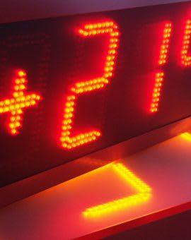 Uhr- / Temperaturanzeigen