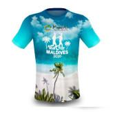Featured Tshirt of Run for Maldives. Island Design