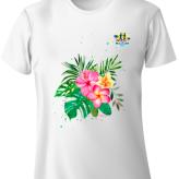 Shimha's Flower Design Run T-Shirt
