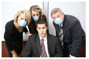 Office flu etiquette
