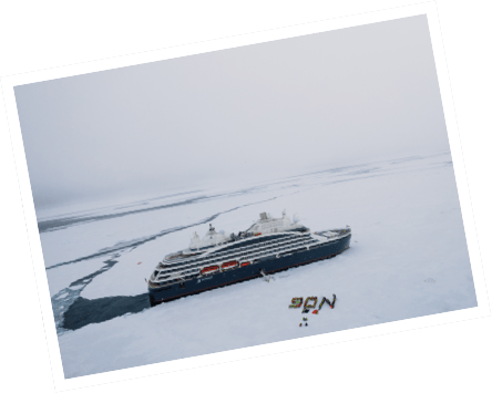 First French ship at the North Pole