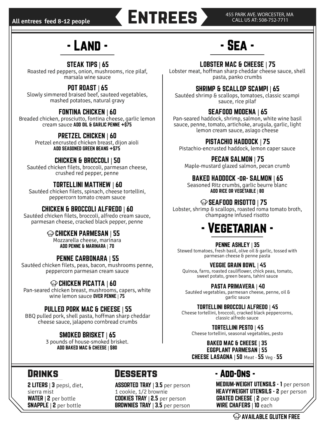 Catering menu page 2 for download