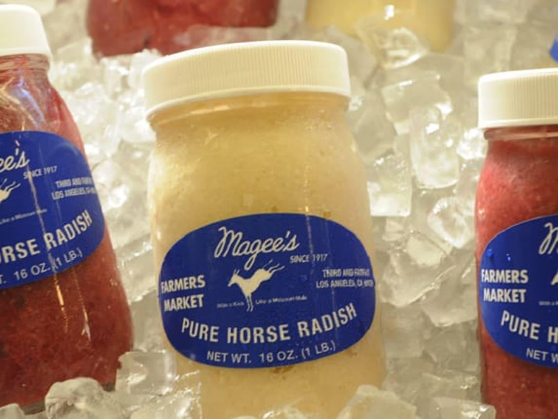 Jars of horse radish
