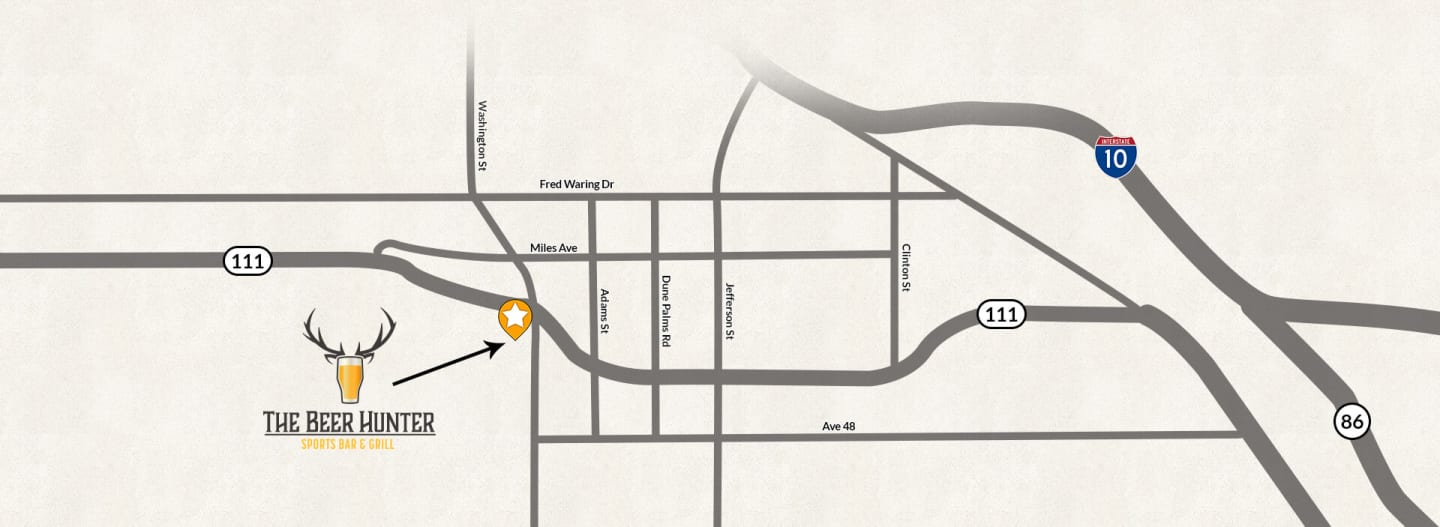 map of beer hunter's location