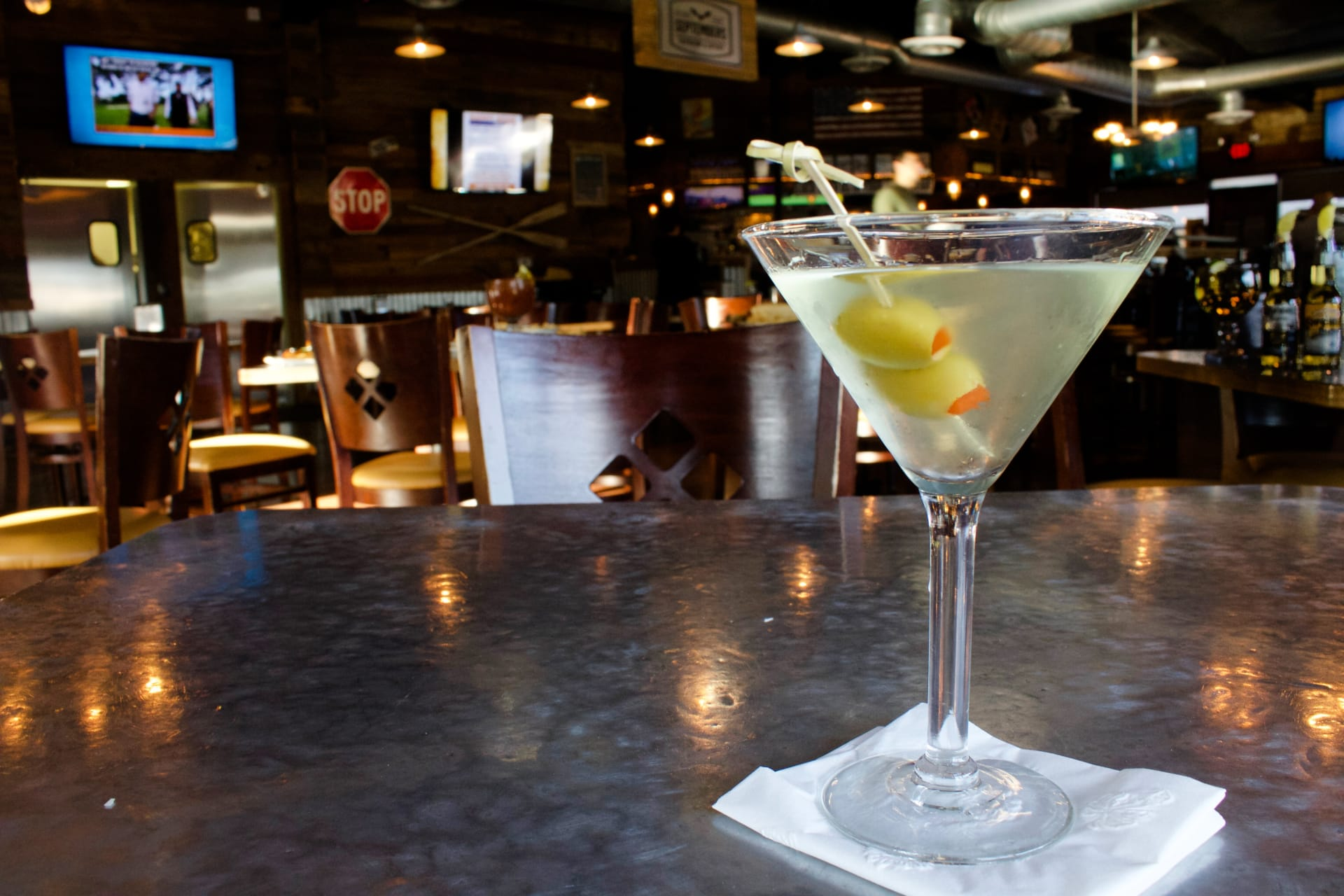 martini with 2 olives