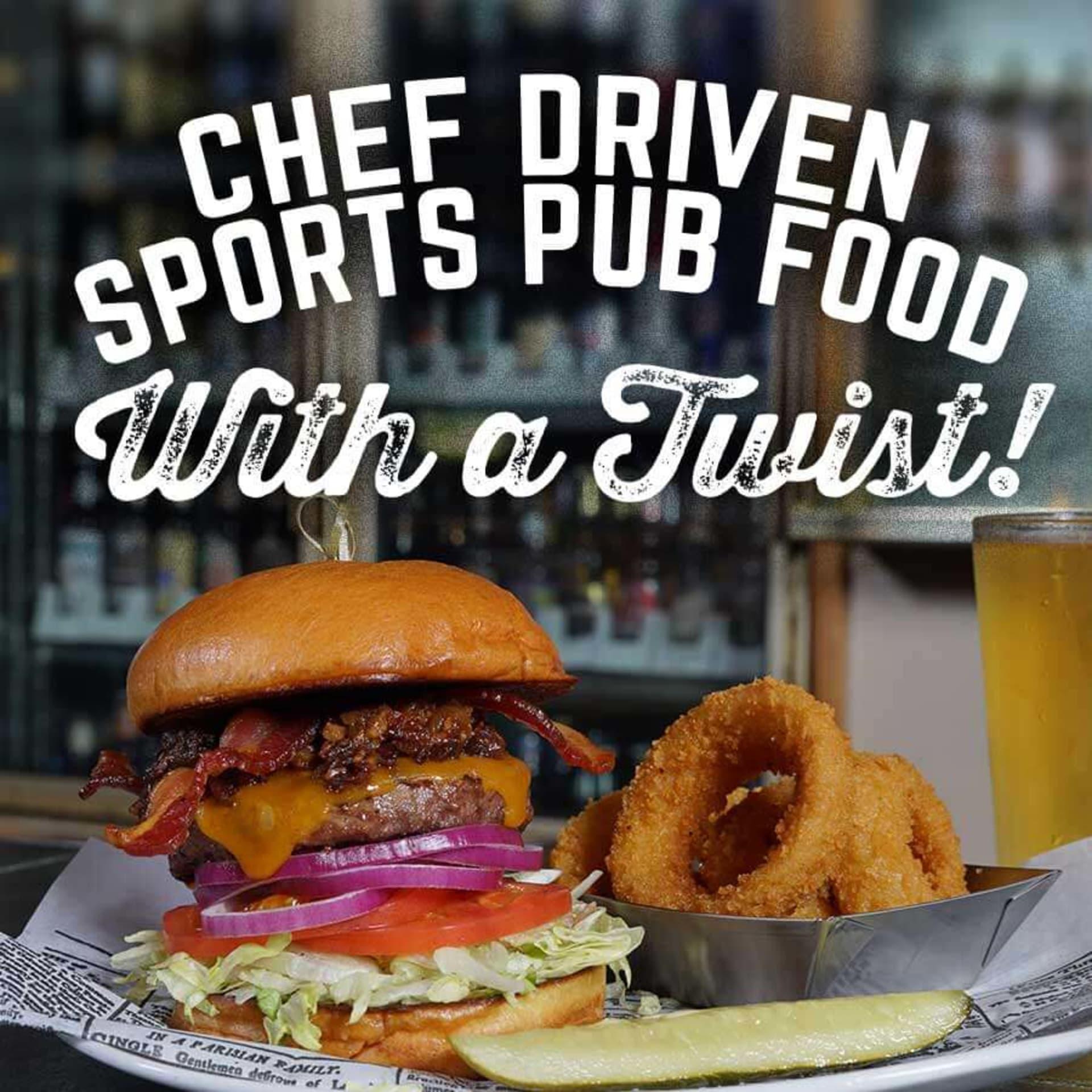 chef driven sports pub food with a twist