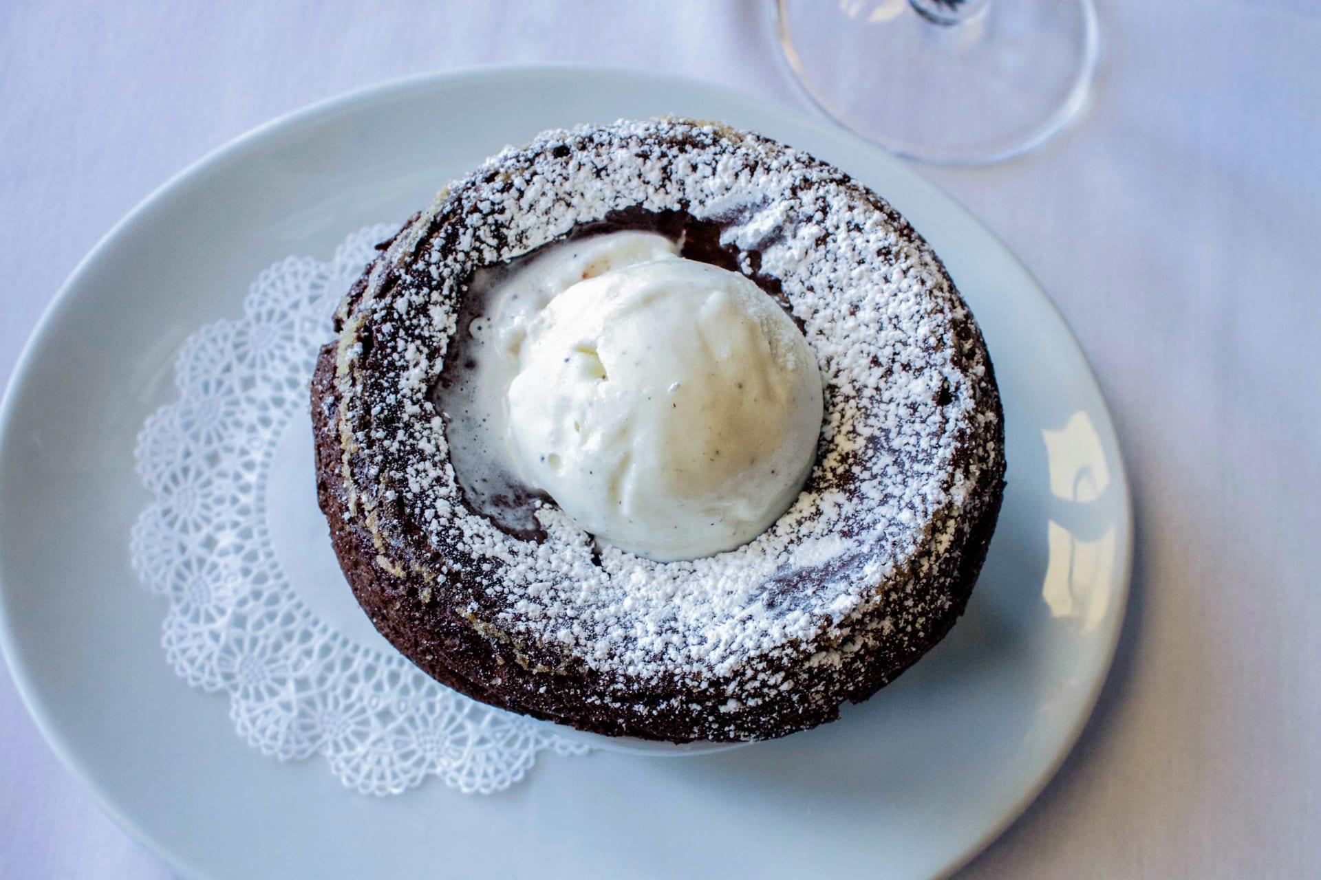 Scharffen Berger Chocolate Souffle Cake