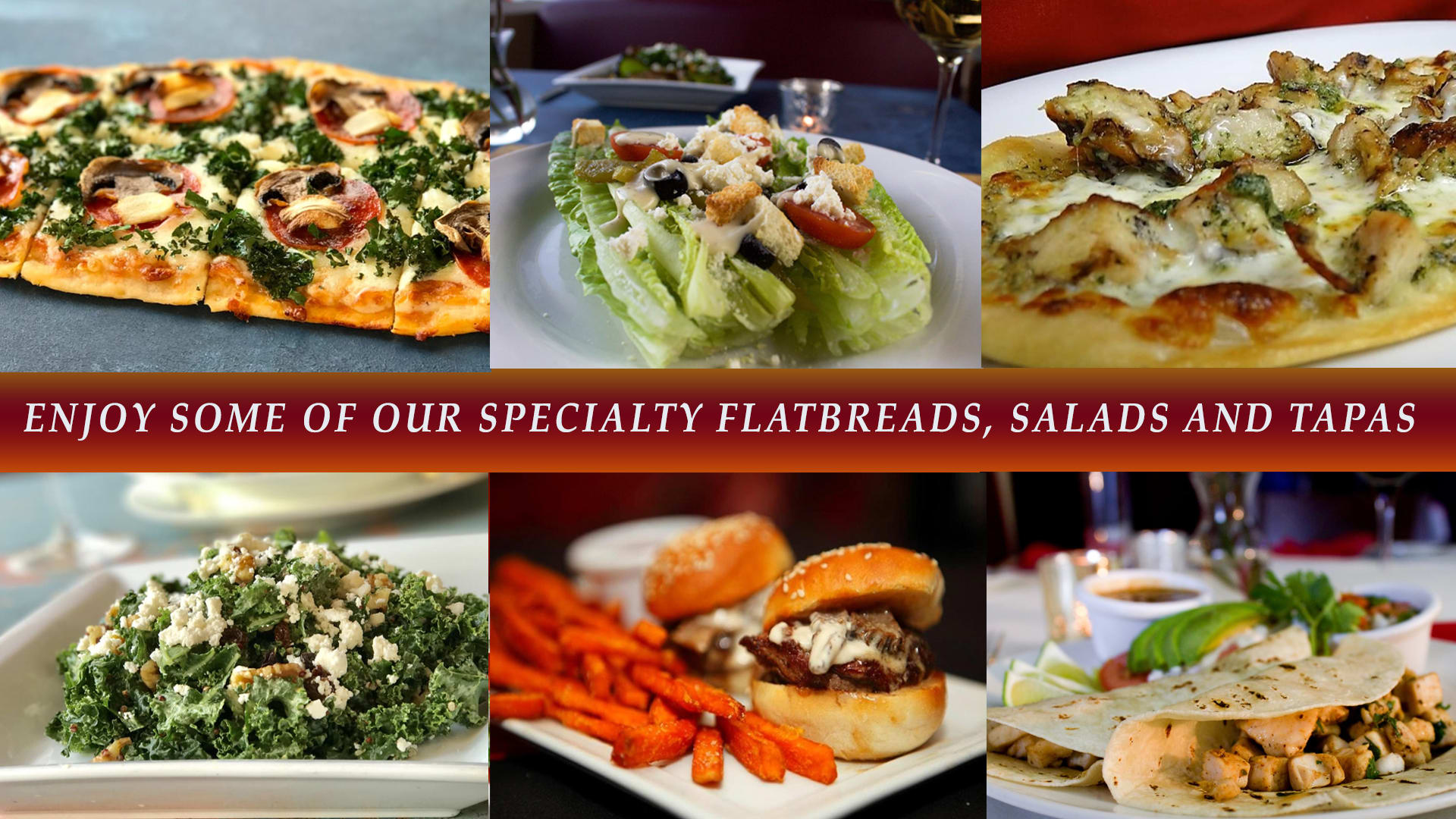 Specialty Starters and Entrees